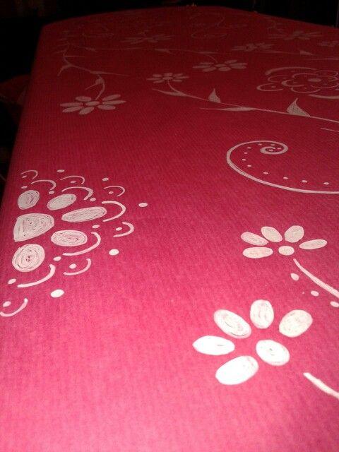 Precioso mantel de papel pintado a mano glitter prertty party pinterest manualidades and - Papel pintado a mano ...