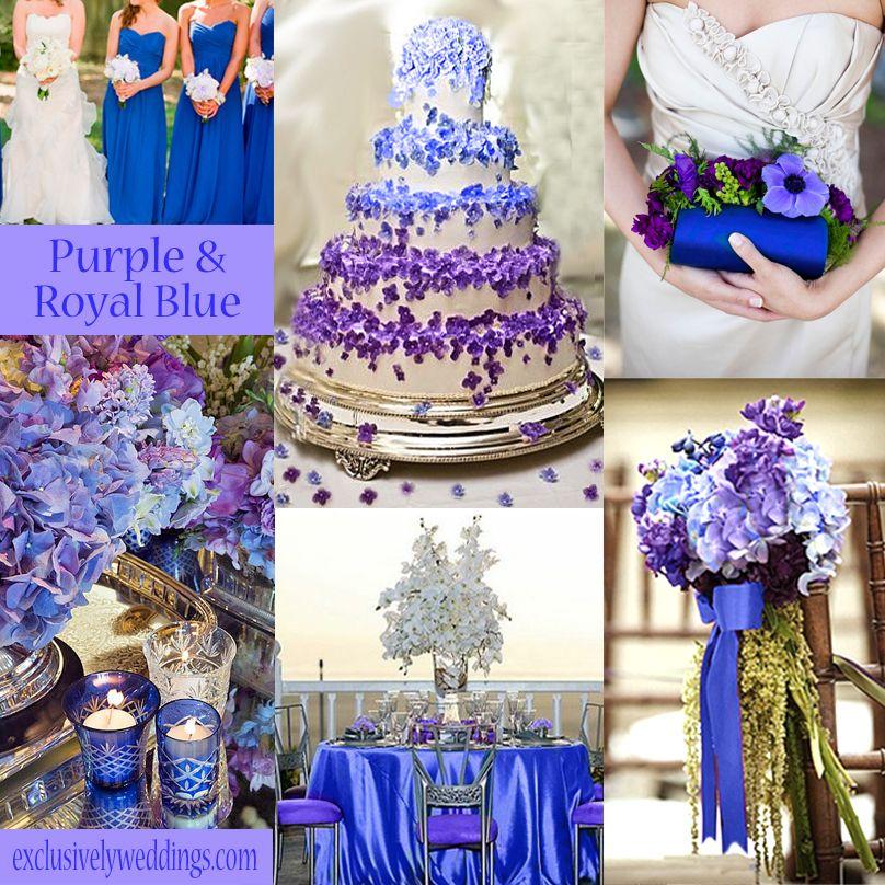 royal blue and silver wedding centerpieces%0A Purple Wedding Color  Combination Options   Purple wedding colors  Wedding  colour combinations and Exclusively weddings