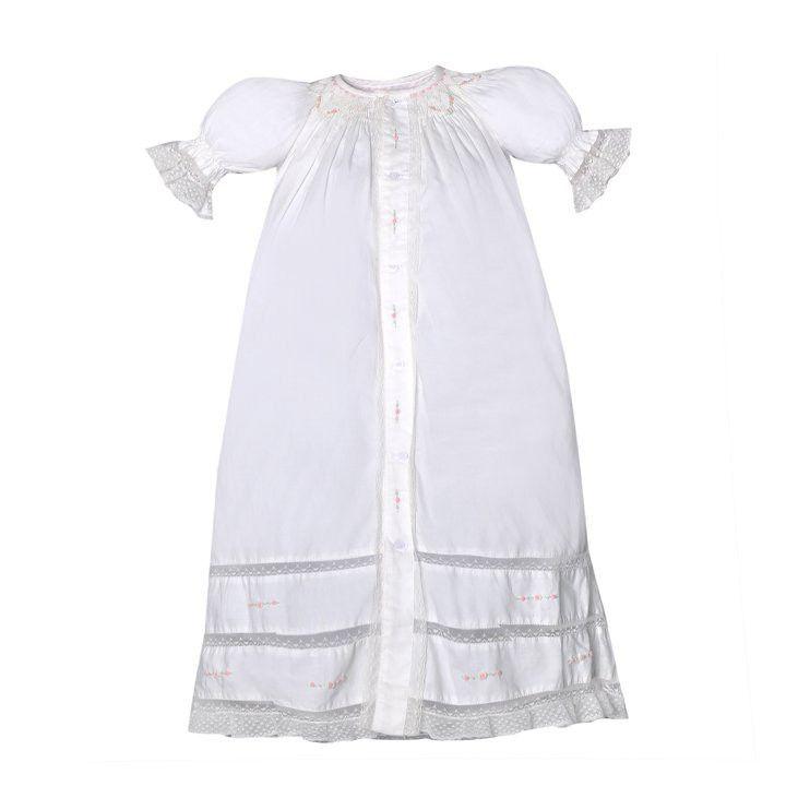 Remember Nguyen Ivory Lace Heirloom Vintage Christening Gown Dress Girls Preemie