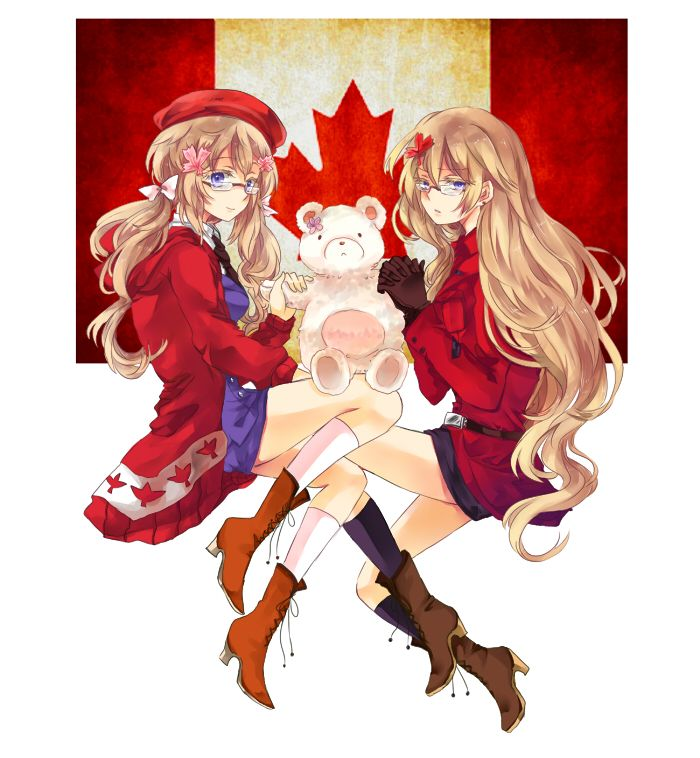 Day30: Character You'd Cosplay As - Either one of the Nyo-Canadas!!! I just love them