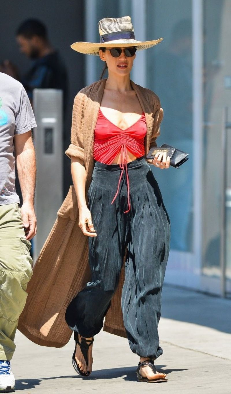 Maggie Q out and about in New York, May 2014. | Red vest ...