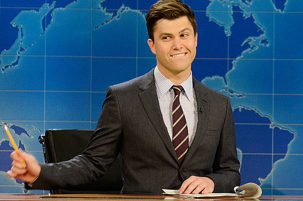 15 Times Colin Jost Was The Cutest Weekend Update Anchor Ever Weekend Update Snl Weekend Update Saturday Night Live