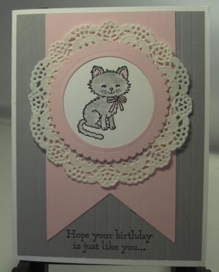 Pretty Kitty with the new Delicate Doilies (UdderlyAwesome Stamping From The…