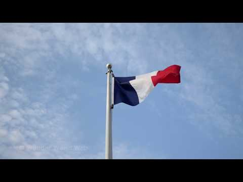 🇫🇷Flag of France Waving In The Wind 4K UHD 60 fps 10hrs 🇫🇷 - YouTube