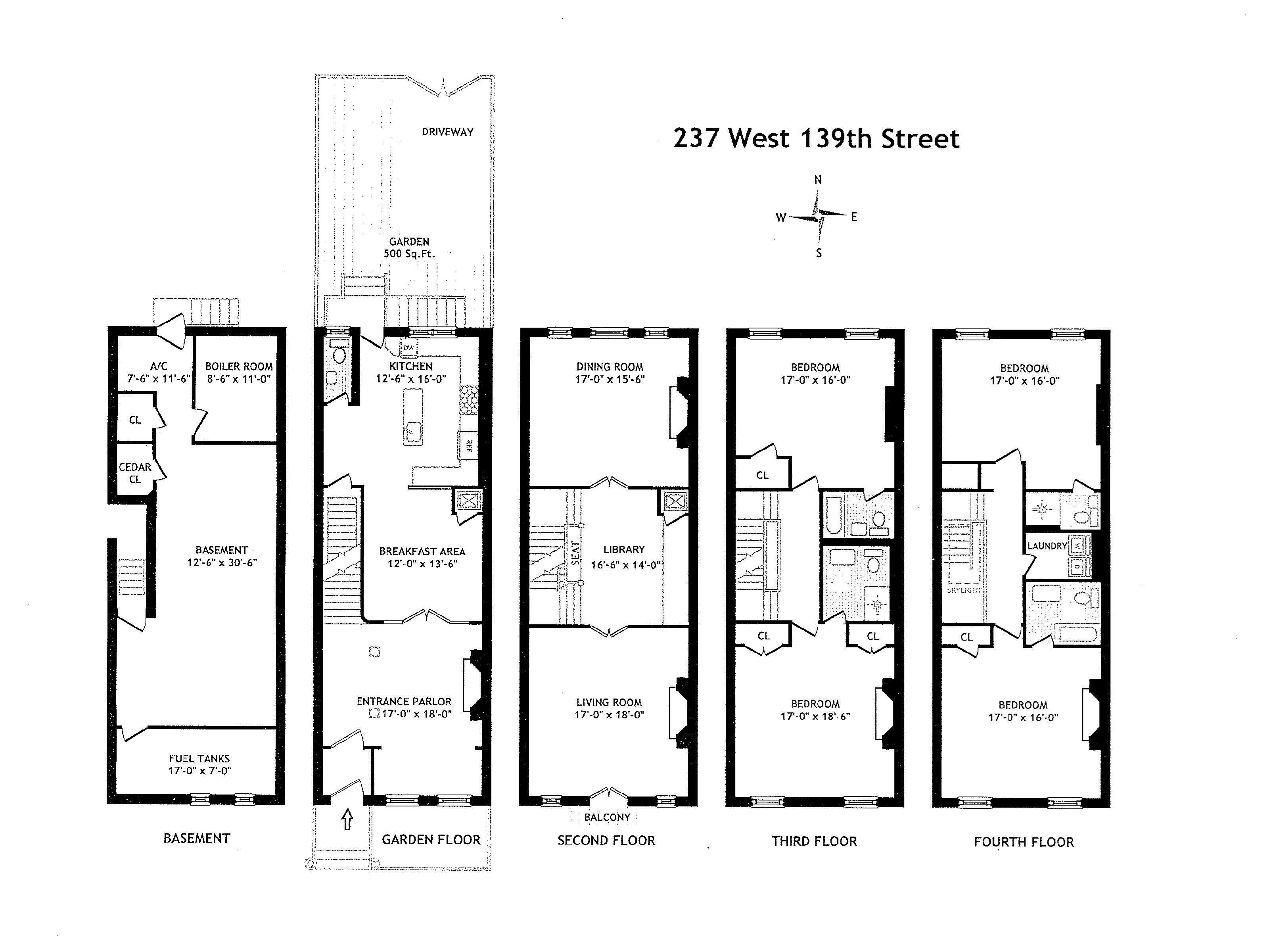237 West 139th St Floor Plans House Flooring Charleston House Plans