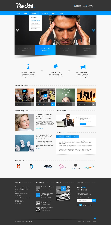 Masakini Corporate Psd Template Themeforest Previewer Web Design Inspiration Web Design Psd Templates