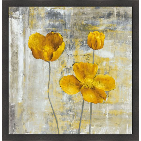 Yellow Wall Art carol black 'yellow flowers ii' framed artwork | yellow flowers
