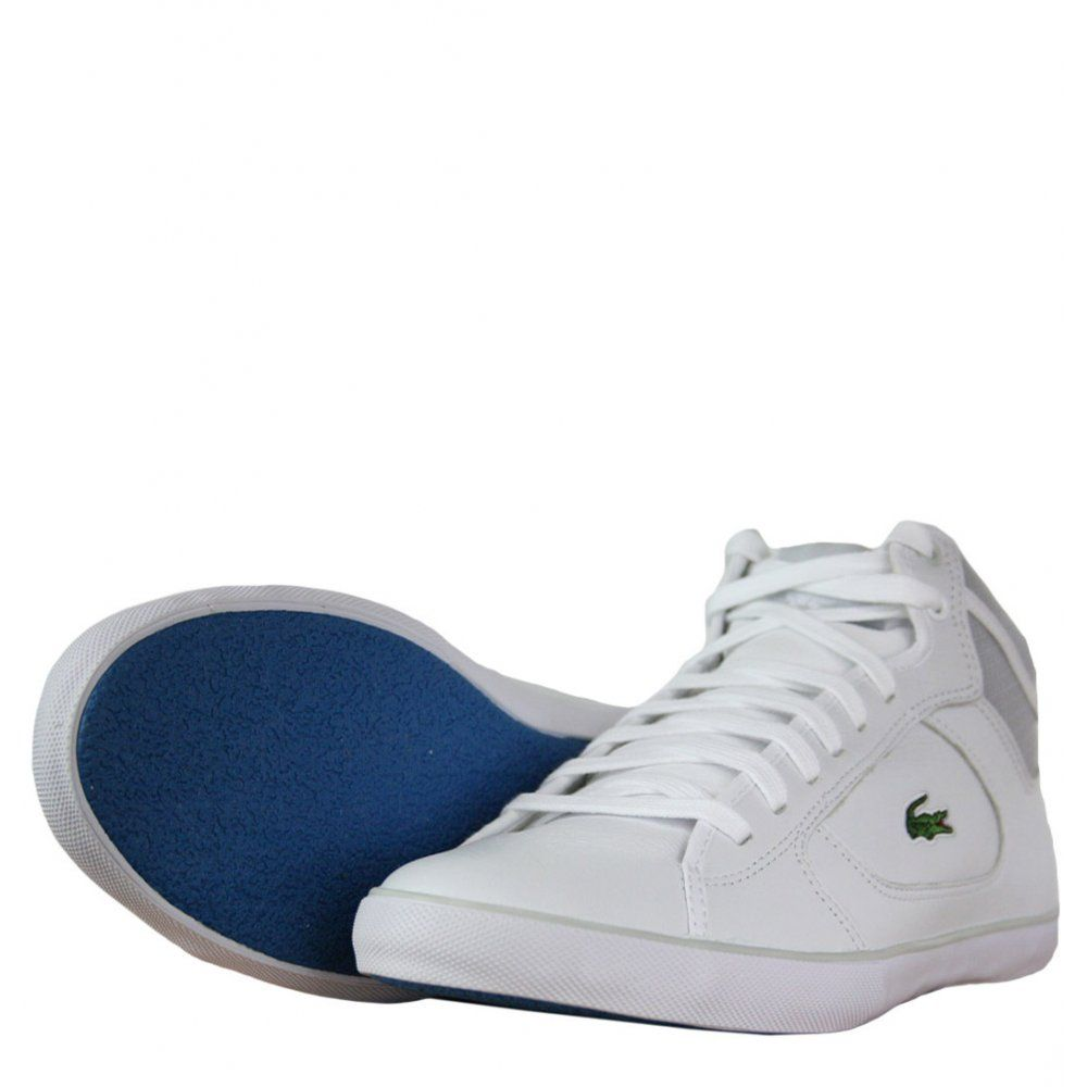 new product 82d81 61688 Lacoste Camous Mens Trainers in White Light Grey - practical and stylish.  For affordable