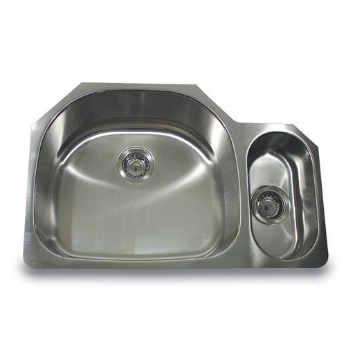 304 16 Gauge Stainless Steel 80/20 32 Inch Undermount Kitchen Sink