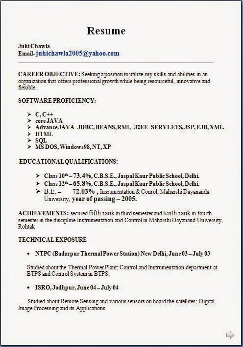 how to write best resume Sample Template Example ofExcellent CV - j2ee jsp resume