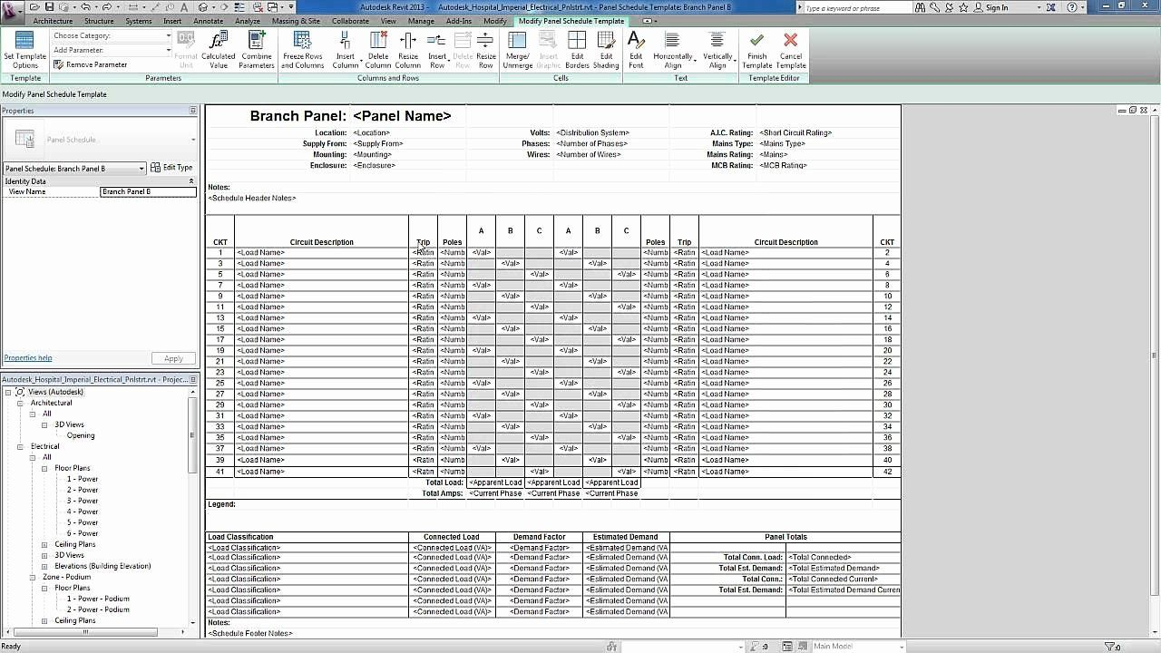 Electrical Panel Schedule Template Excel Awesome Revit For Mep Electrical Systems Panel Templates Schedule Template Teaching Plan Templates Label Templates Electrical panel schedule excel template