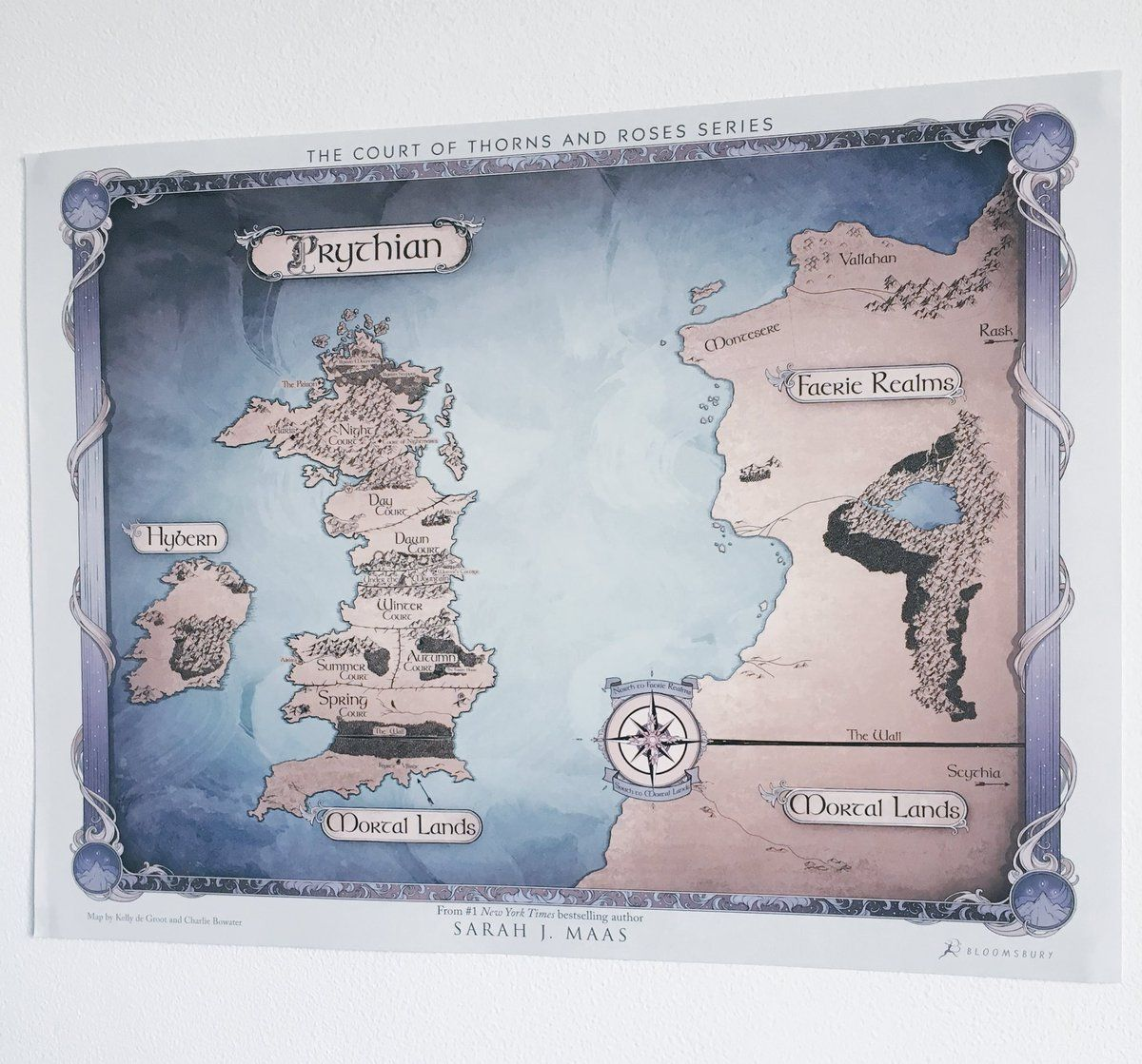 throne of glass world map Acotar Acomaf Acowar World Map Of Prythian A Court Of Wings And