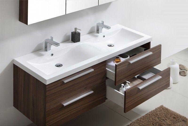 Badmöbel-Set R1442LR Walnuss Babyzimmer/ Kinderzimmer Pinterest - badezimmer waschbecken mit unterschrank