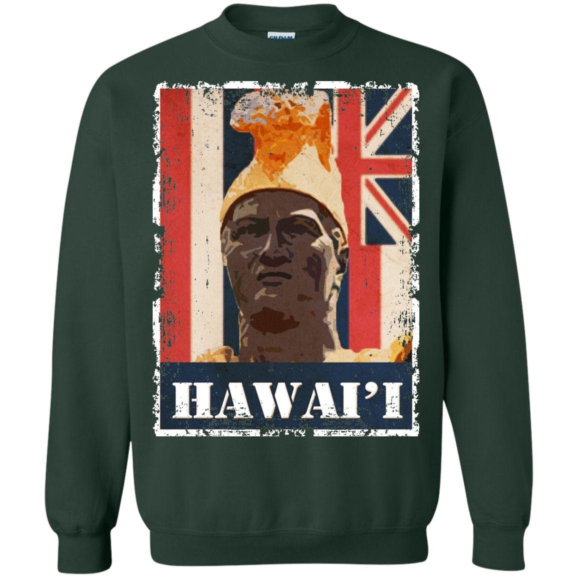 Hawai\'i King Kamehameha Printed Crewneck Pullover Sweatshirt 8 oz ...