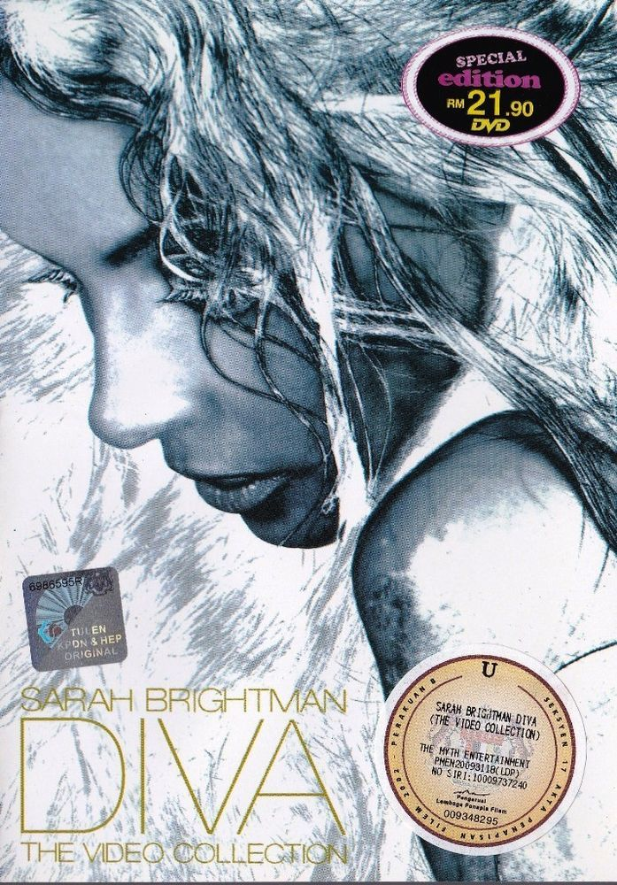SARAH BRIGHTMAN DIVA The Video Collection DVD NEW NTSC Region All Free Shipping