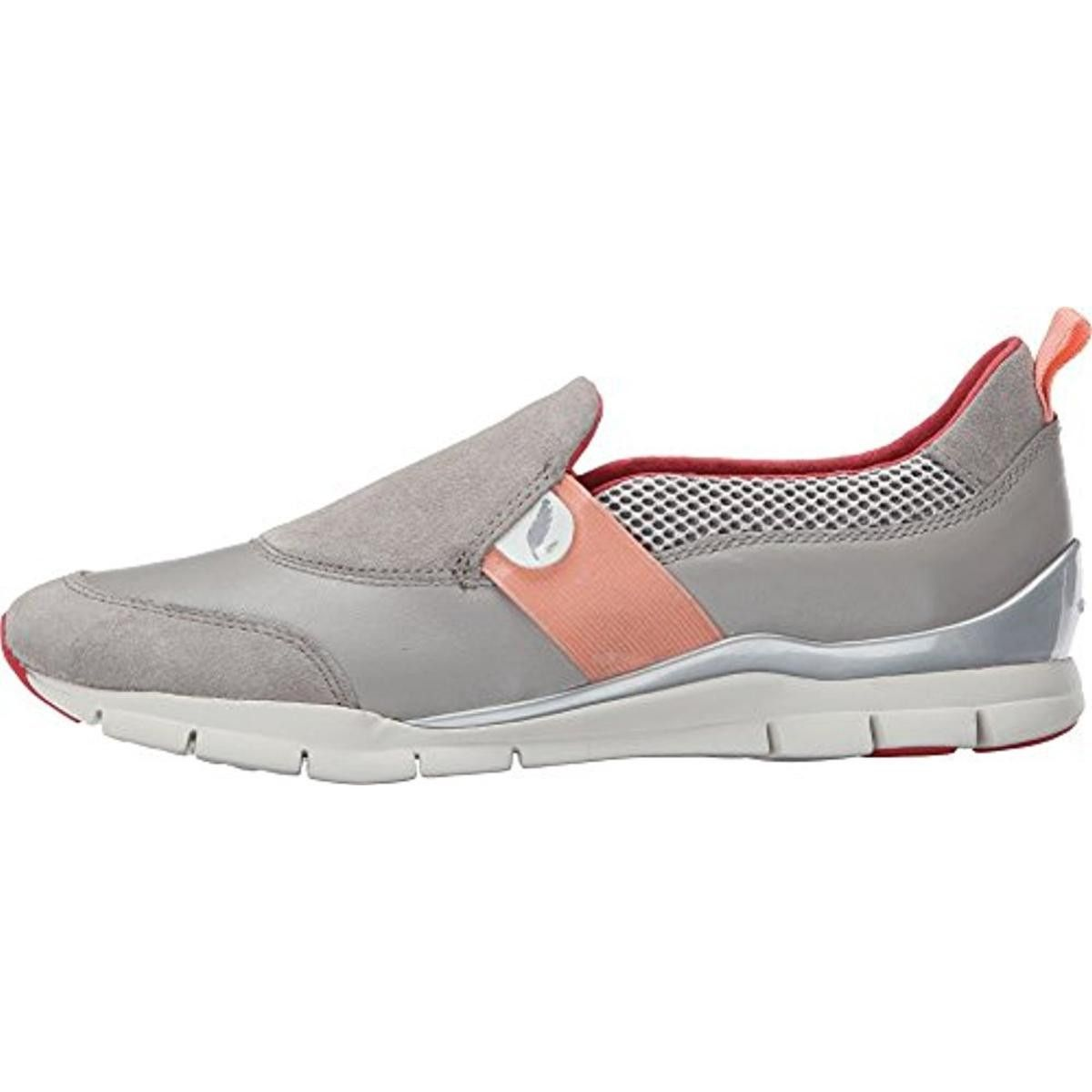 Geox Womens D Sukie Leather Casual Fashion Sneakers