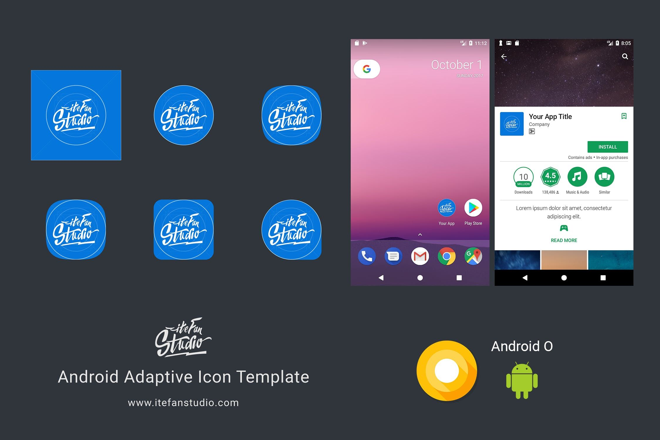 Android Adaptive Icon Template By Itefan On Android Icons