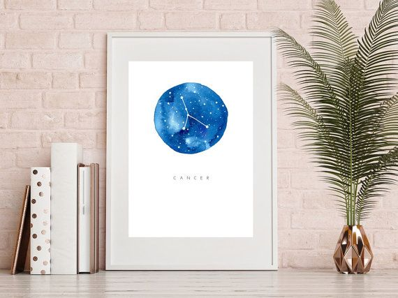 Check out my Etsy and save 20% off with coupon code PINTERTEST20 Cancer Zodiac Print  Watercolour Print Cancer by PaigeKatoPrints