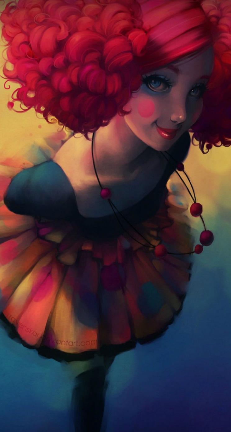 Cute Clown Girl Girl Iphone Wallpaper Cute Girl Wallpaper Iphone Wallpaper