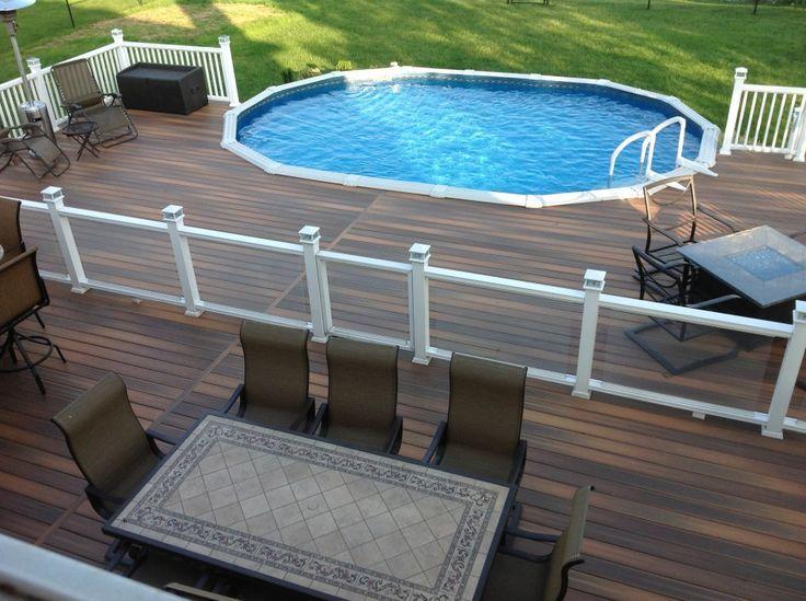 Stylish Above Ground Pool Storage With Galaxy Vinyl Fence Solar