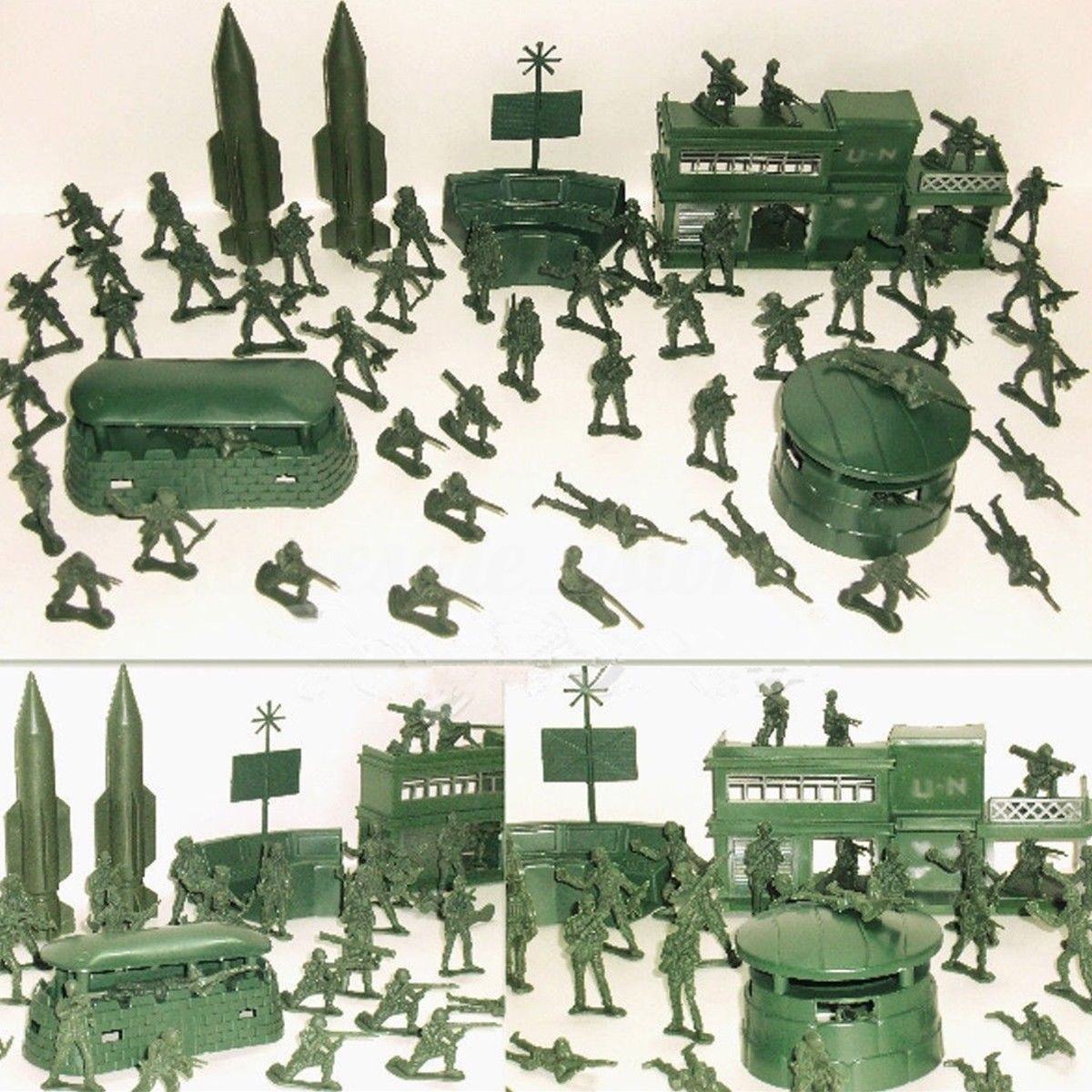 Set of plastic toy soldiers Russian Special Forces 8pcs x 54mm