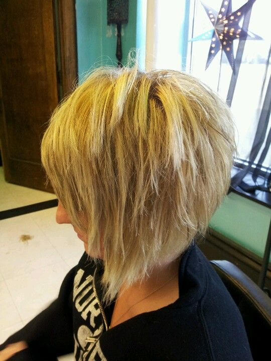 fine hair razored stack amyobrien