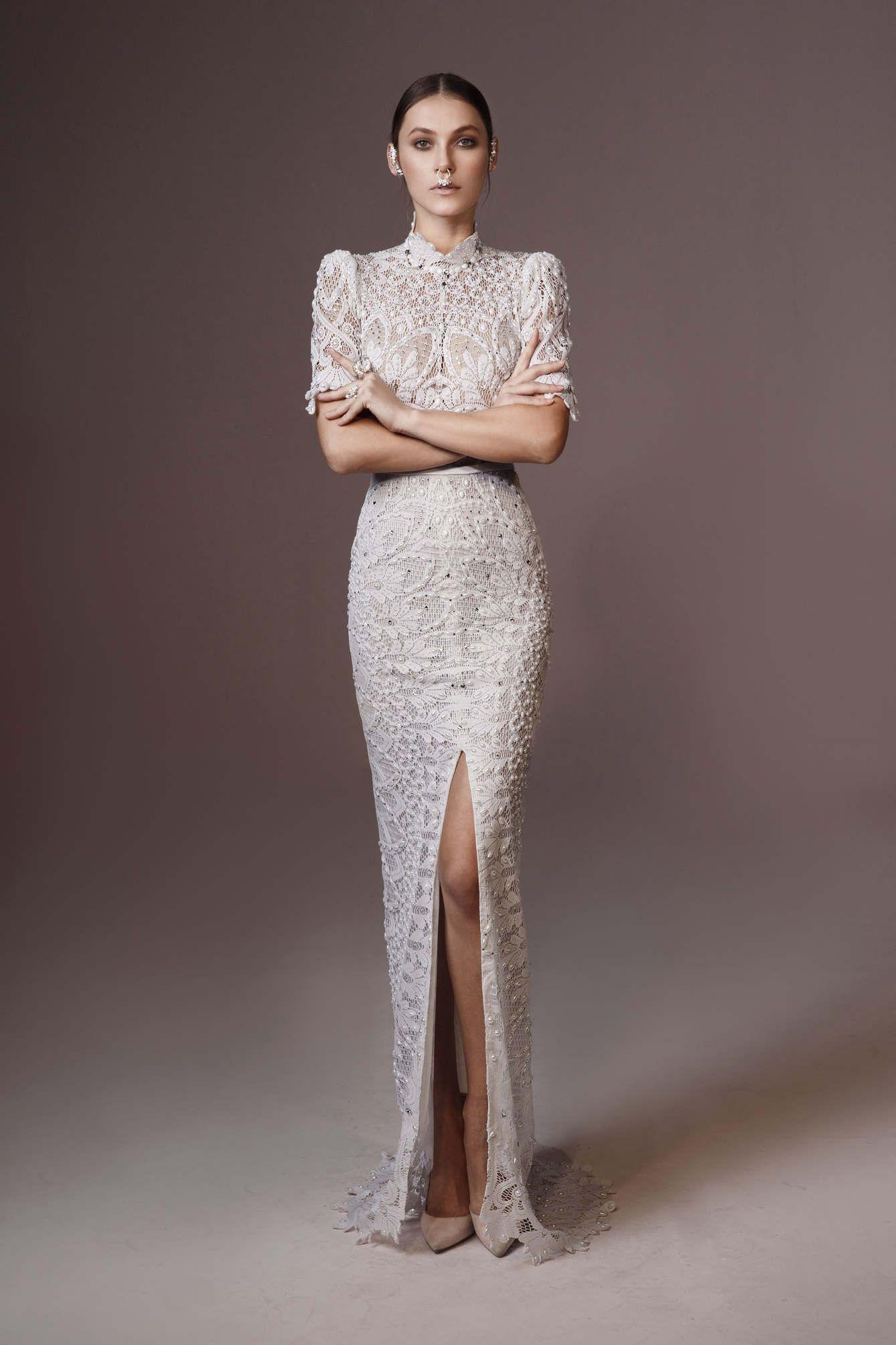 Mini white wedding dress  CHARCHY  eavning u wedding dresses  Pinterest  Wedding dress