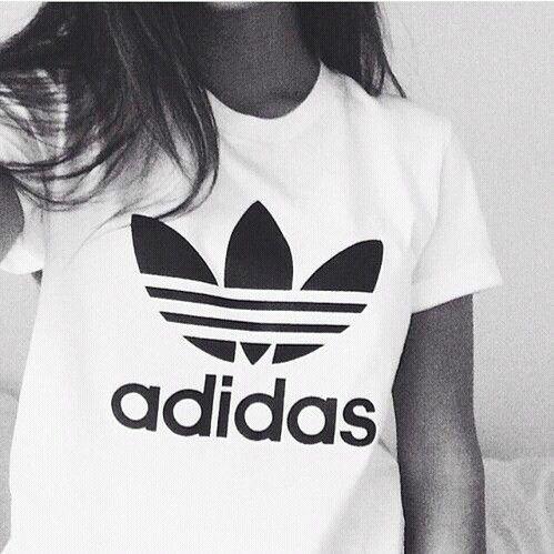 adidas t shirt women white