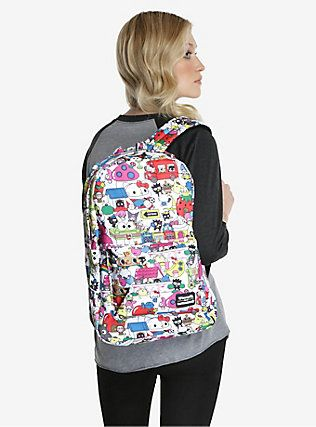 Loungefly Hello Sanrio Allover Print Backpack,