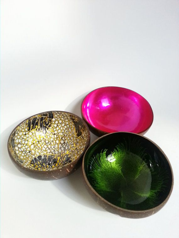 Perfect Lacquer Coconut Bowl Pink Green Eggshell #TravelDazzle  Www.TravelDazzle.co.uk Design Inspirations