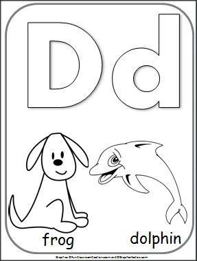 Free Letter D Alphabet Coloring Page Alphabet Coloring Pages Teacher Freebies Learning Letters