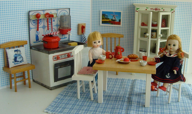 BLUE DELFT Vintage Dutch KITCHEN for dolls by GoodGollyMissDollyUK