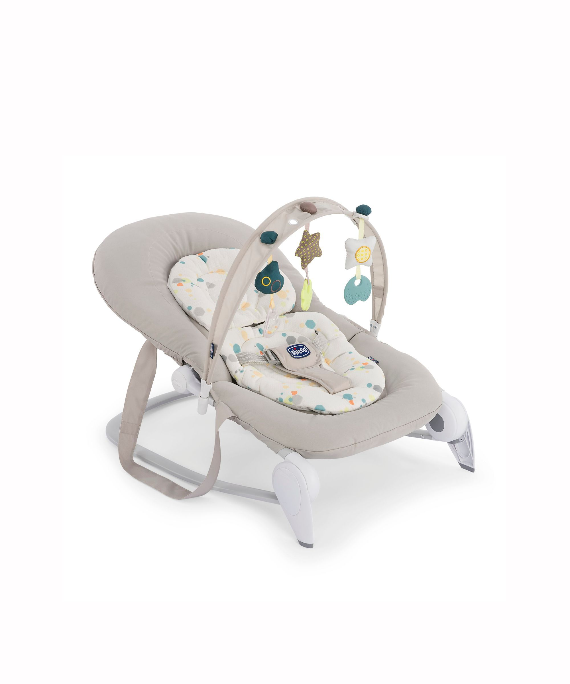 Chicco Hoopla Bouncer and Rocking Chair Silver Baby
