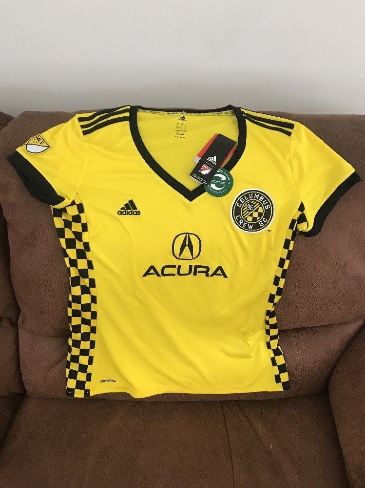 Adidas Columbus Crew Sc Mls Soccer Jersey NWT Size Large Womens ... 3e2a47248