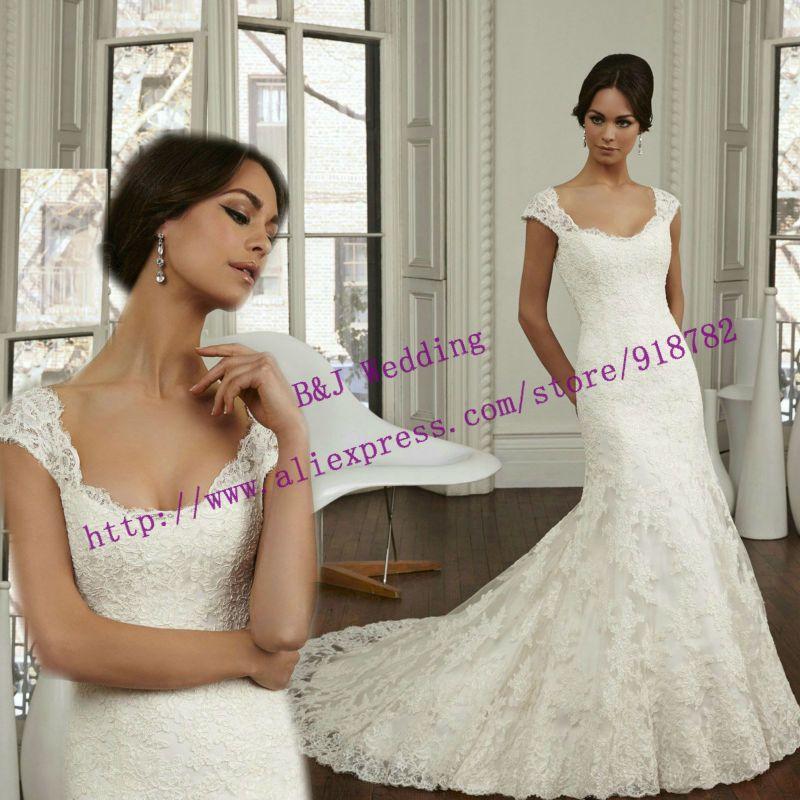 Aliexpress.com: Compre Novo Design 2015 Custom Made moda Sexy Backless vestido De Noiva sereia Vestidos De Noiva de confiança rendas elevadas sapatos topo fornecedores em B&J Wedding Dress Boutique