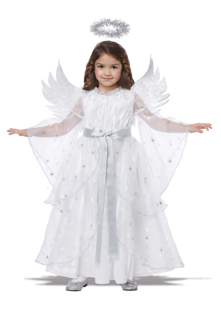 NATIVITY ANGEL COSTUME FANCY DRESS OUTFIT