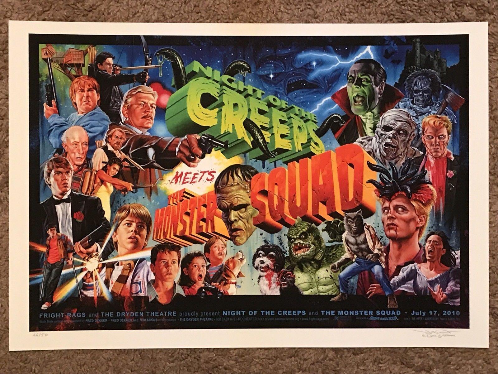 82800bb34 Night Of The Creeps Monster Squad Jason Edmiston Horror Movie Print Poster  Mondo