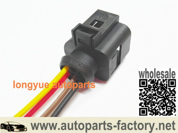 Long Yue Cooling Fan Control Module Pigtail Connector 98 99 Audi A4 Plug 1j0 973 713 Cooling Fan Wire Connectors Audi A4