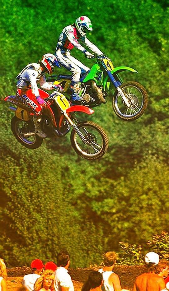 Rick And Ron Motocross Supercross Enduro Dirtbikes Offroad Harley Gear Motorcycle Supermoto Yamaha Biker Caf Vintage Motocross Supercross Motocross Riders