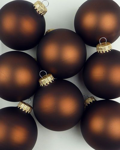 Christbaumkugeln Bestellen.Mocca Matt 8 Christbaumkugeln Bestellen Colors Brown Brown