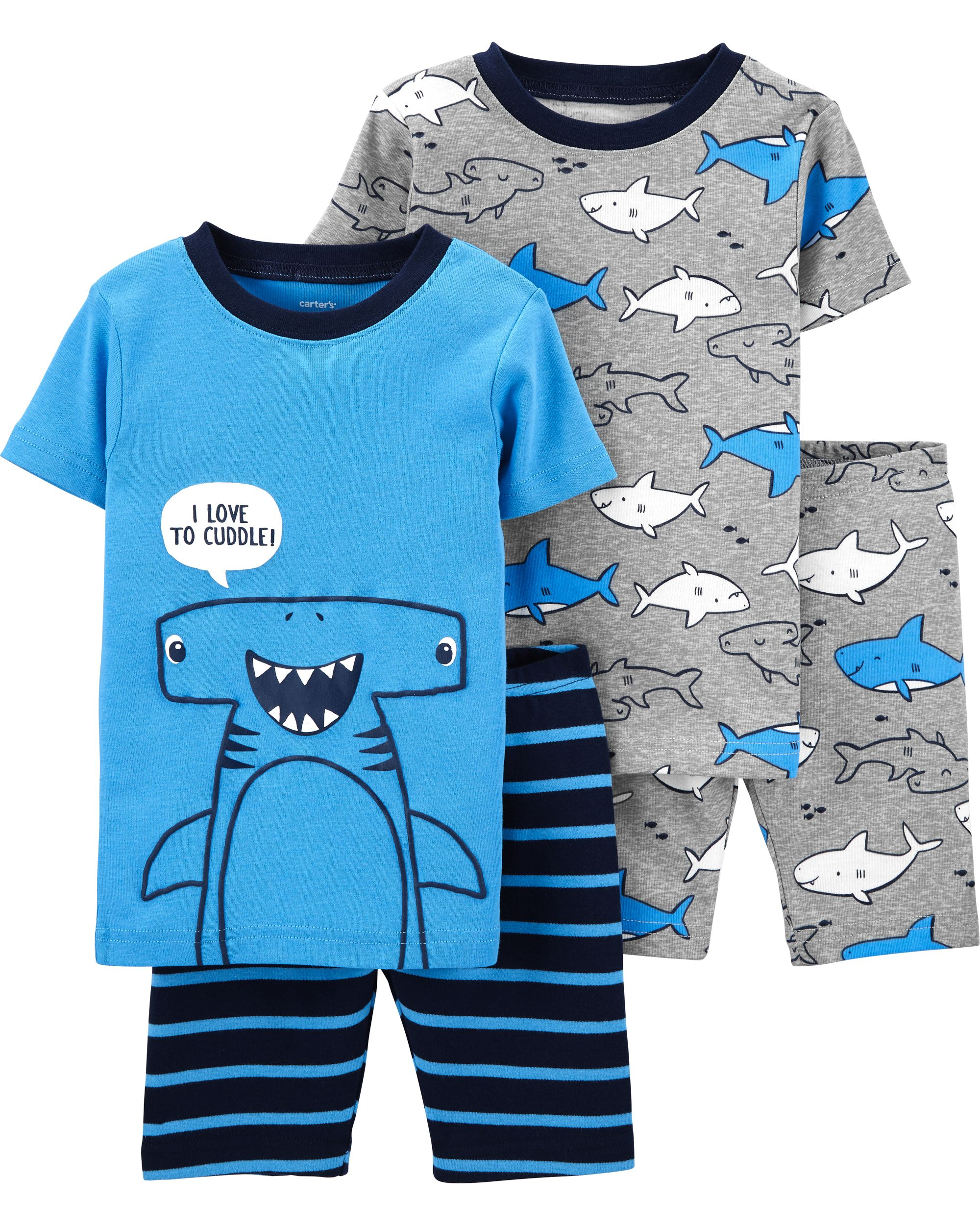 NEW 2020 Baby Boys Girls 100/% Cotton Whale /& Octopus Long Pyjamas Set