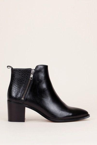 Boots cuir talon aiguille femme noir Jonak : un large choix
