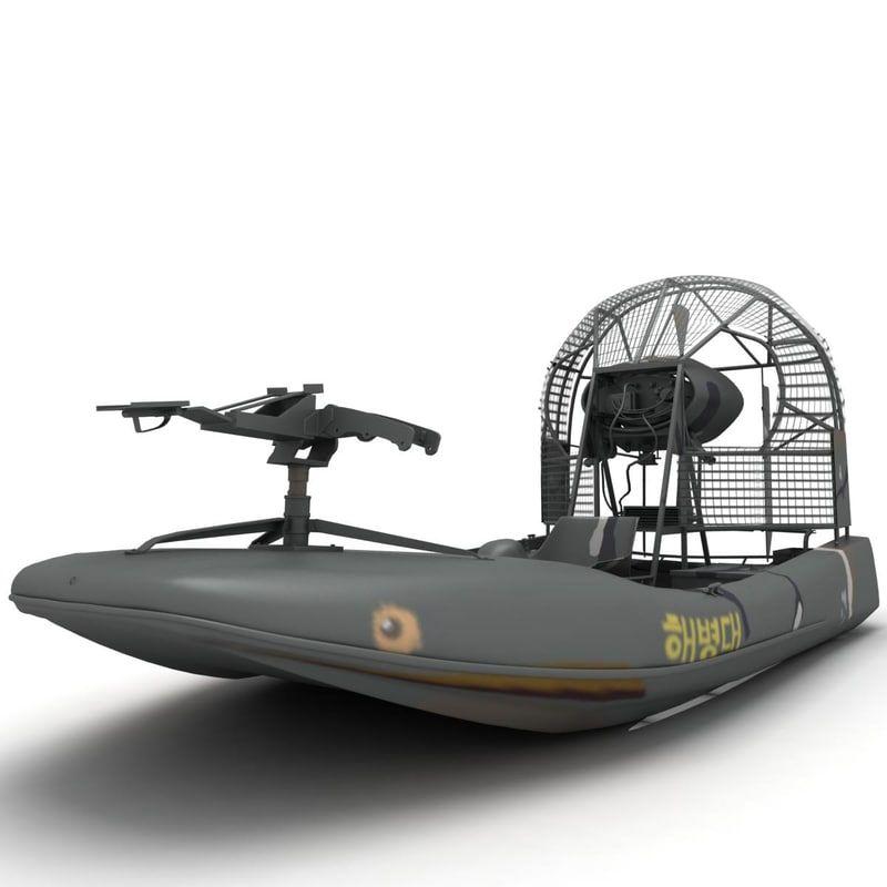 vietnam war airboat relic 3d model | 휴 - 2019 | 보트