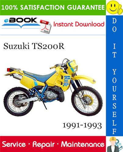 Suzuki Ts200r Motorcycle Service Repair Manual 1991 1993 Download Repair Manuals Repair Suzuki