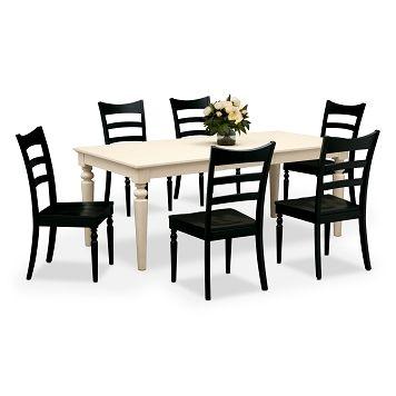 American Signature Furniture  Carnival Black Dining Room 7 Pc Mesmerizing American Signature Dining Room Sets Design Inspiration