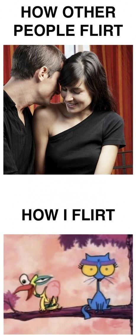 Ich will mit ihr flirten