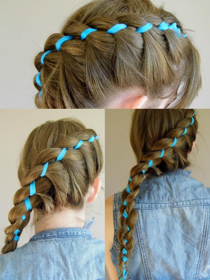 Braidsandstyles12 | hair | Pinterest | Ribbon braids, Hair ...