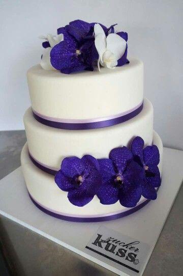 Hochzeitstorte Von Zuckerkuss Ch Mit Echten Orchideen Fullung