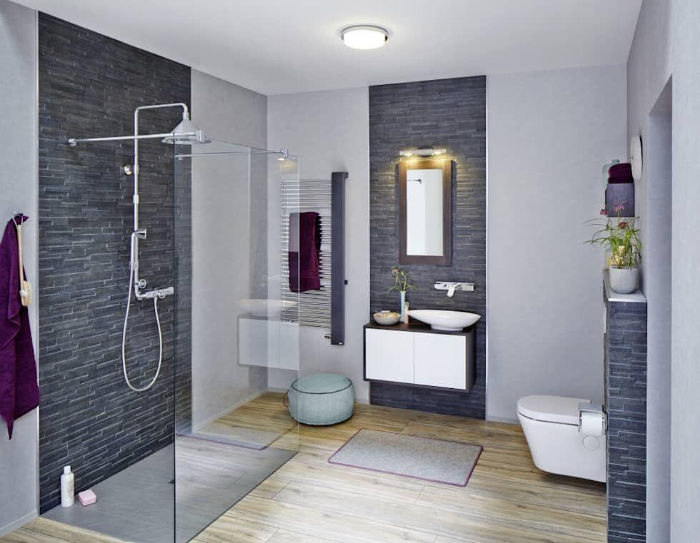 Metro london badezimmer von rimini baustoffe gmbh  wohnideen  Laundry in bathroom Bathroom