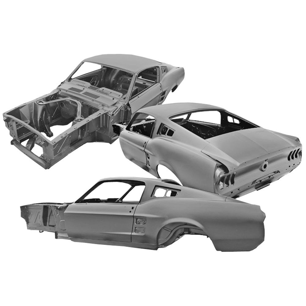 Dynacorn Complete Body Shell Mustang Fastback 1967 Mustang Fastback Sheet Metal Work Mustang